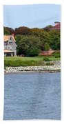 Magnificent Homes Along Cliff Walk Beach Towel