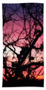 Magnificent Sunset And Trees Beach Towel