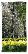 Magnolia And Daffodils Beach Towel