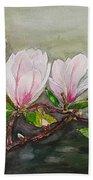 Magnolia Blossom - Painting Beach Towel