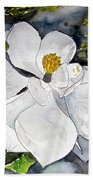 Magnolia Tree Flower Beach Towel