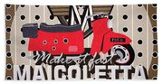 Maicoletta Scooter Advertising Beach Towel