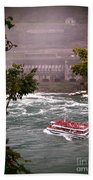 Maid Of The Mist Canadian Boat Beach Towel