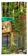 Mailbox On The Rural Country Road Beach Towel