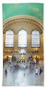 Main Hall Grand Central Terminal, New York Beach Towel