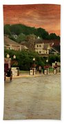 Main Street Mackinac Island Michigan Panorama Textured Beach Towel