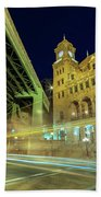 Main Street Station-vertical Beach Towel