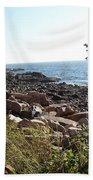 Maine Atlantic Ocean Coast Beach Towel