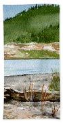 Maine Beach Wood Beach Towel