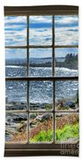 Maine Coast Picture Frame Beach Towel