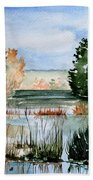 Maine Fall Reflections Beach Towel
