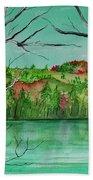 Maine's Autumn Finery Beach Towel