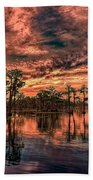 Majestic Cypress Paradise Sunset Beach Towel