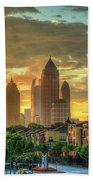 Majestic Gold Midtown Atlantic-station Atlanta Sunrise Art Beach Towel