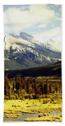 Majestic Mount Rundle Beach Towel
