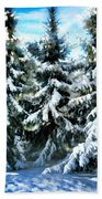 Majestic Winter In New England  Beach Towel