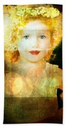Golden Curls Beach Towel