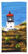 Makapuu Lighthouse #78, Beach Towel