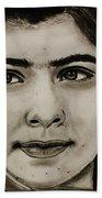 Malala Yousafzai- Teen Hero Beach Towel
