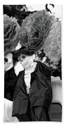 Male Female Skeleton Black Beach Towel