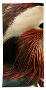 Male Mandarin Duck China Beach Towel