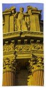 Male Statue Palace Of Fine Arts Beach Sheet