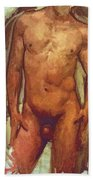 Male Torso Study  Beach Towel