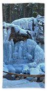 Maligne Canyon Winter Wonders Beach Towel