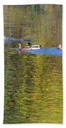 Mallard Splash Landing Beach Towel