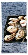 Malpeque Oyster Poster Beach Towel