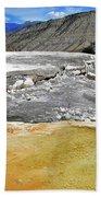 Mammoth Hot Springs1 Beach Towel