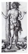 Man Of Sorrows With Hands Raised 1500 Beach Towel