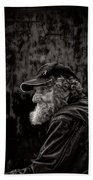 Man With A Beard Beach Towel by Bob Orsillo