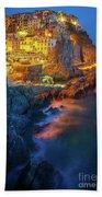 Manarola Lights Beach Towel