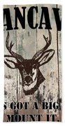Mancave Deer Rack Beach Towel