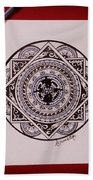 Mandala Art Beach Towel
