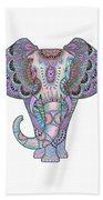 Mandala Elephant Indigo Beach Towel