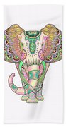 Mandala Elephant Psicodelic Beach Sheet