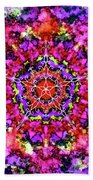Mandala Floral Red Purple Beach Towel