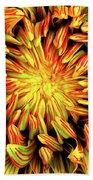 Mandala Flower  Beach Towel