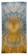 Mandala From The Garden 2 - Flower Feather Shield Beach Towel