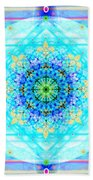 Mandala Of Womans Spiritual Genesis Beach Sheet
