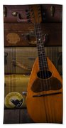 Mandolin And Suitcases Beach Towel