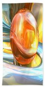 Mango And Cream Abstract Beach Towel