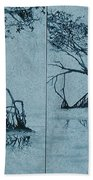 Mangroves Beach Towel by Leah  Tomaino