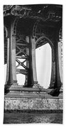 Manhattan Bridge, Afternoon Beach Towel by Gary Heller