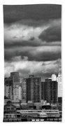 Manhattan Nyc Storm Clouds Cityview Beach Towel