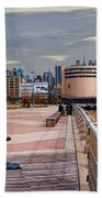 Manhattan West Side Panorama Beach Towel