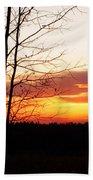 Manitoba Sunset Beach Towel