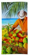 Manuel The Fruit Vendor At The Beach Beach Towel